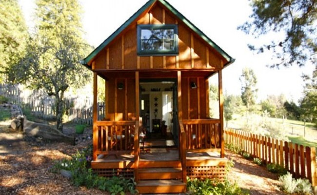 Tiny House With Porch On Trailer Tiny House On Wheels With