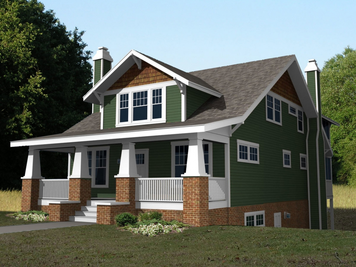 2 Story Craftsman Bungalow House Plans 2 Story Craftsman