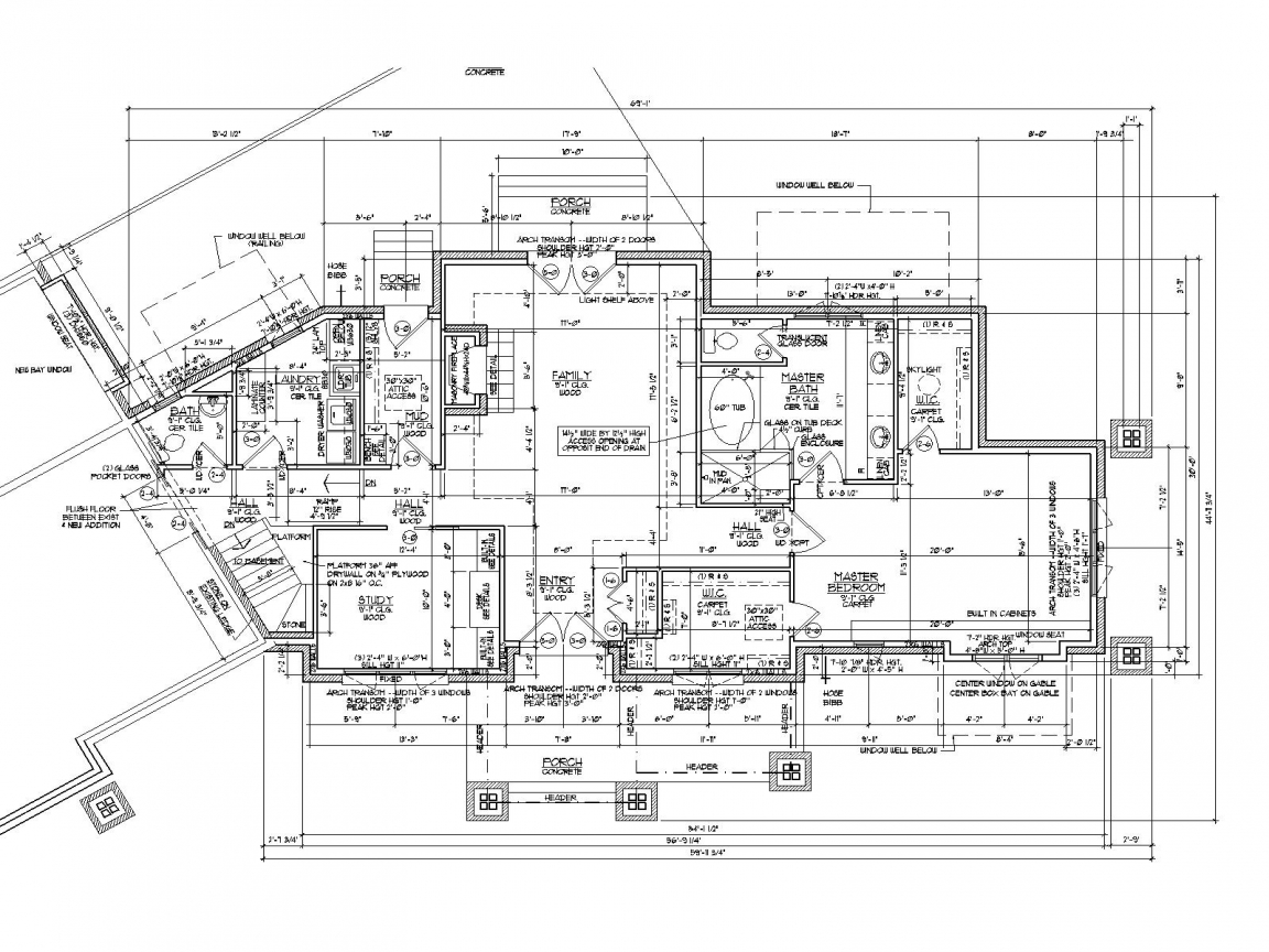 Architectural Drawing House Floor Plan 3D House Drawing