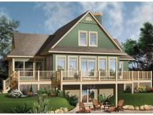 Lake House Plans With Rear View