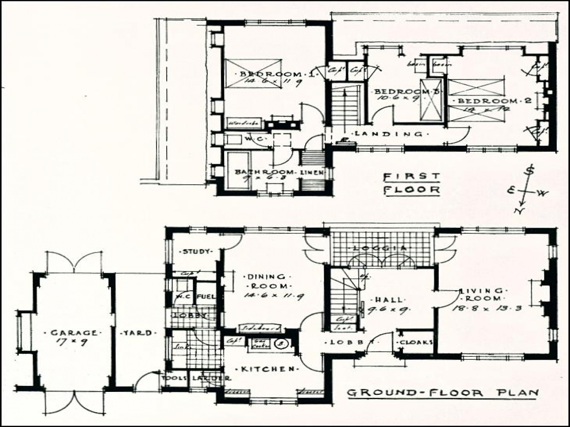 Modern Ranch House Plans 1930s House Floor Plans, 1930