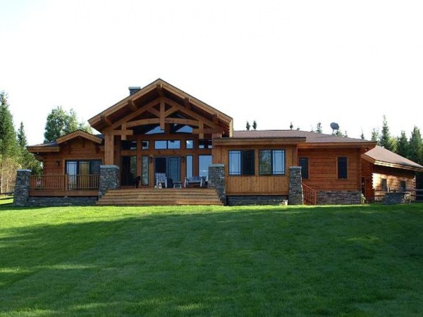 Craftsman Style Log Home Bungalow Homes