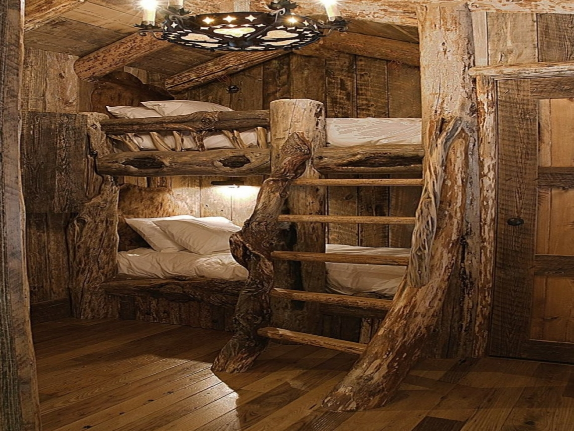 Discount Log Bunk Beds Log Cabin Bunk Beds 3 bed log