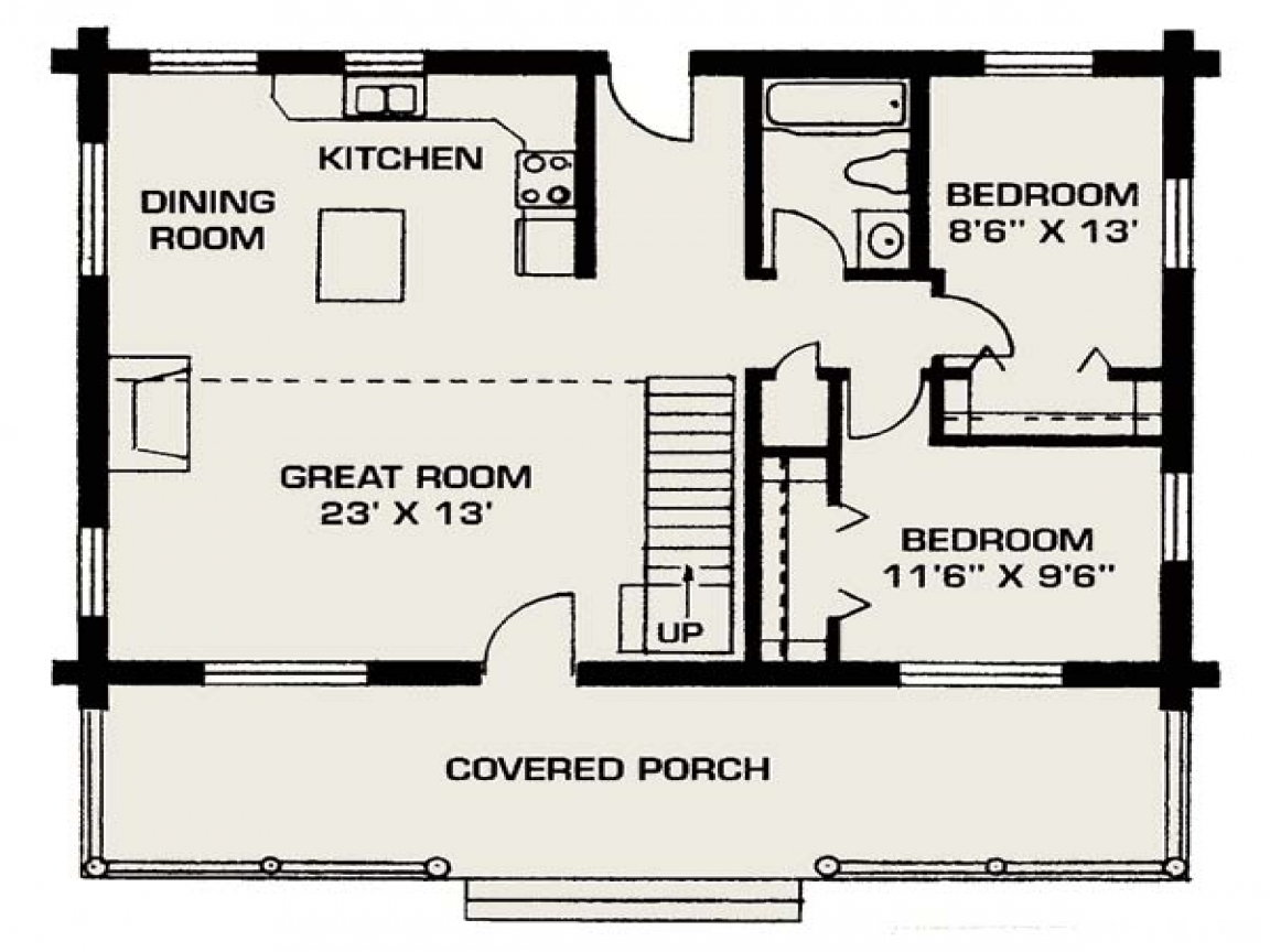 Small Log Cabins Small Log House Floor Plans, small