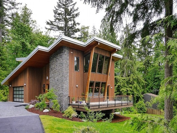 Small Modern Mountain Homes Cottage
