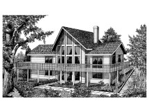 Vacation House Plan Front Of 015d 0010