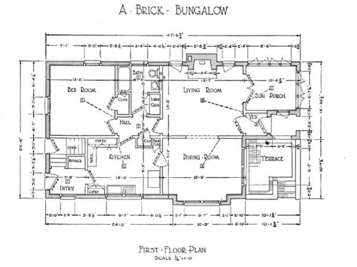 1918 Craftsman Bungalow Floor Plans Craftsman Bungalow