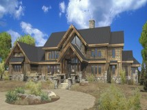 Large Estate Log Home Floor Plans
