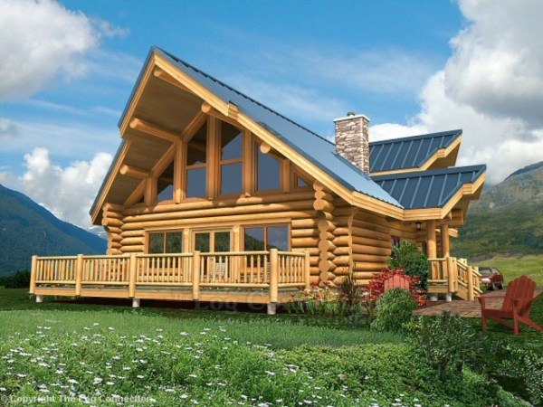 Log Home Plans And Small With Loft