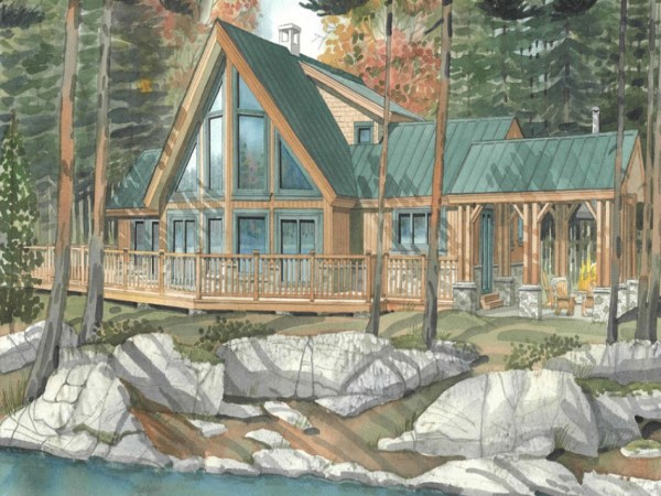 Timber Frame Home Interiors House Plans