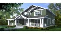 Craftsman Bungalow House Two Story Craftsman House Plan ...