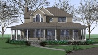Farm House Plans with Wrap around Porches Old-Fashioned ...