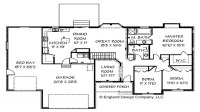 Cape Cod House Ranch Style House Floor Plans with Basement