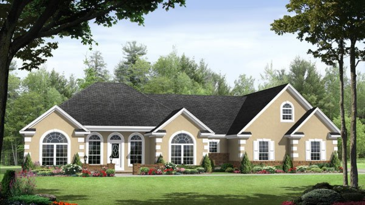 Split Bedroom Ranch House Plans Ranch Homes With Split