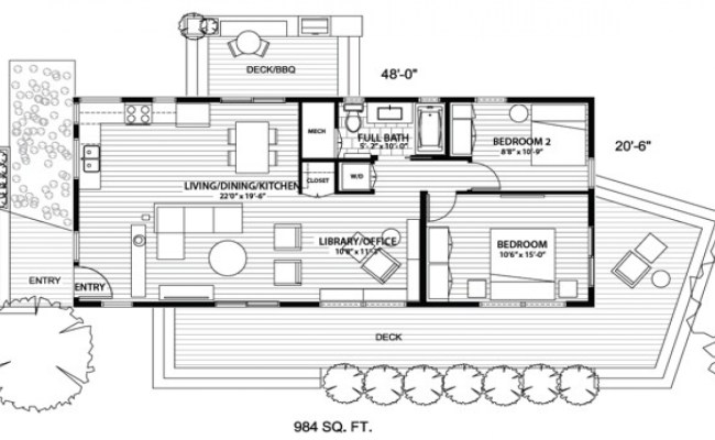 Tiny Houses With No Loft Tiny House With Open Floor Plan