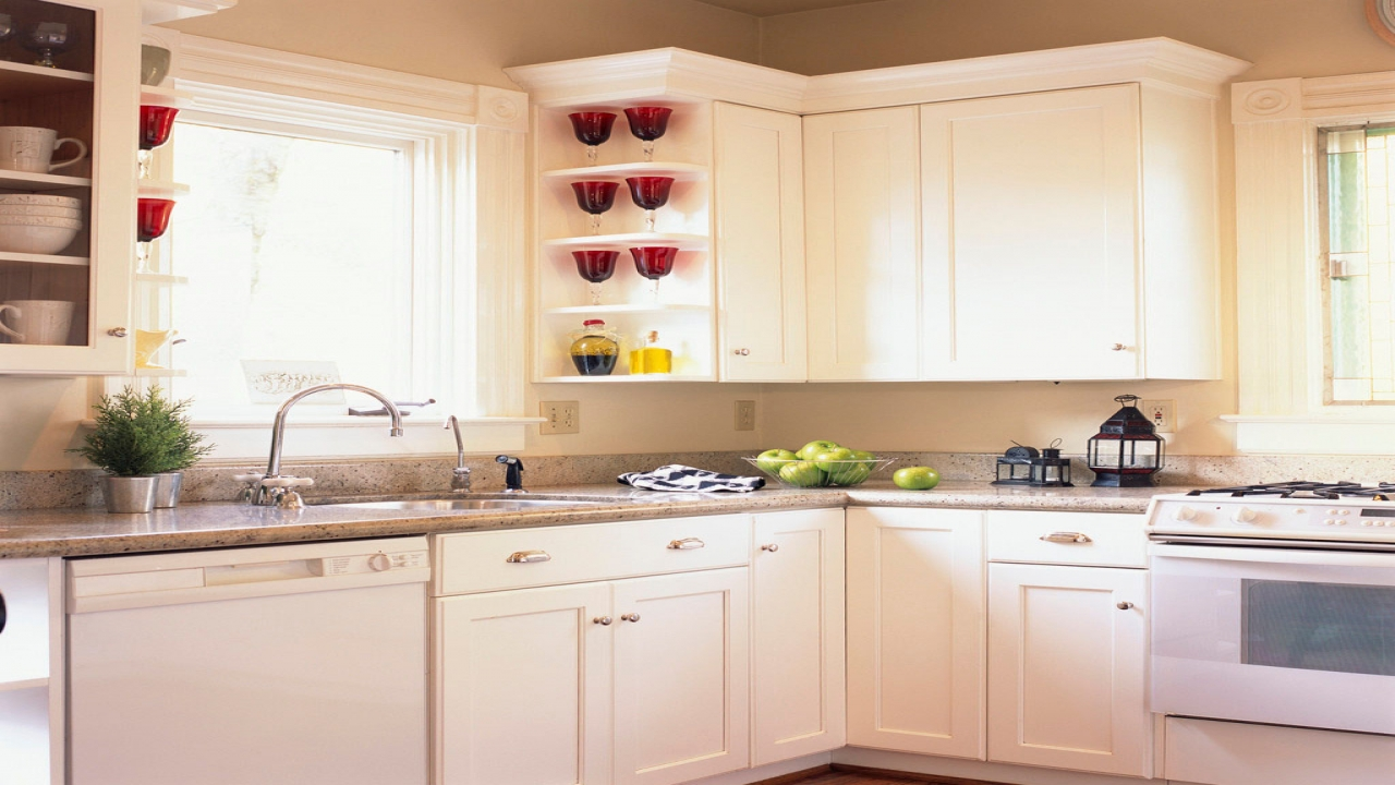 Country Kitchens with White Cabinets Small White Kitchen Cabinet Decorating Ideas house behind