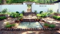 Small Front Courtyards Small Spanish Style Courtyard ...