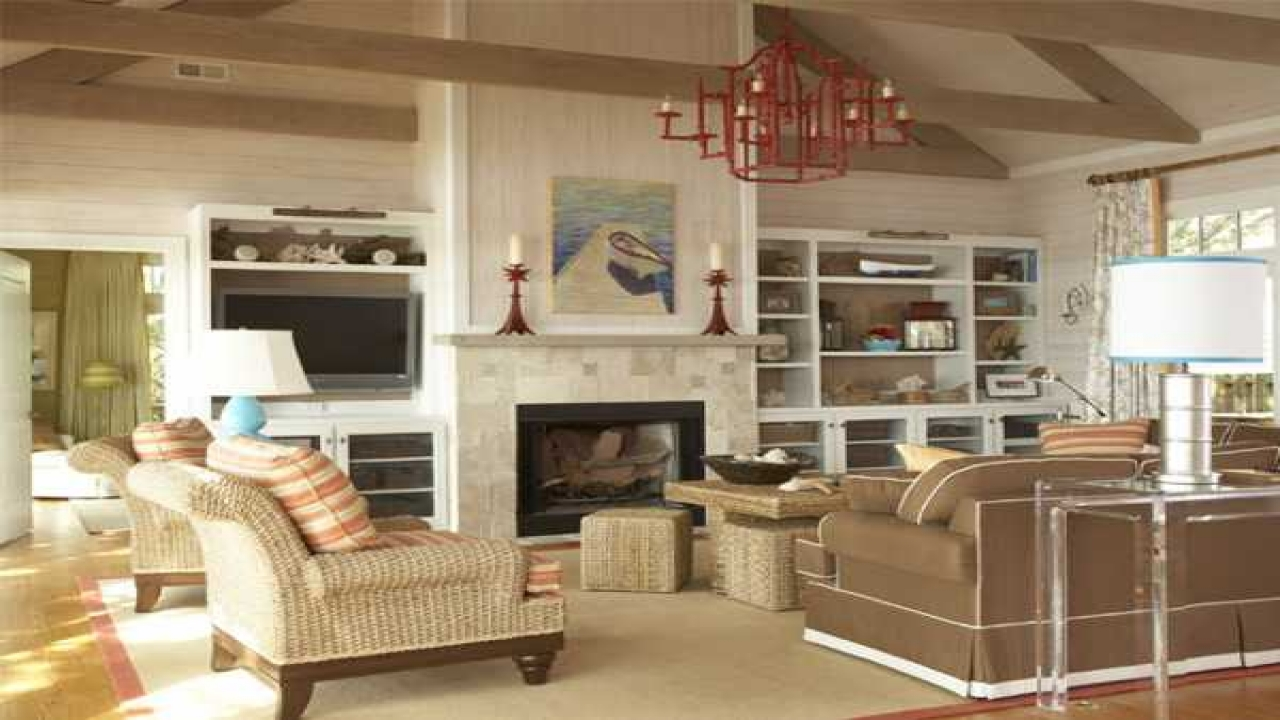 Beach House Family Room Decorating Ideas