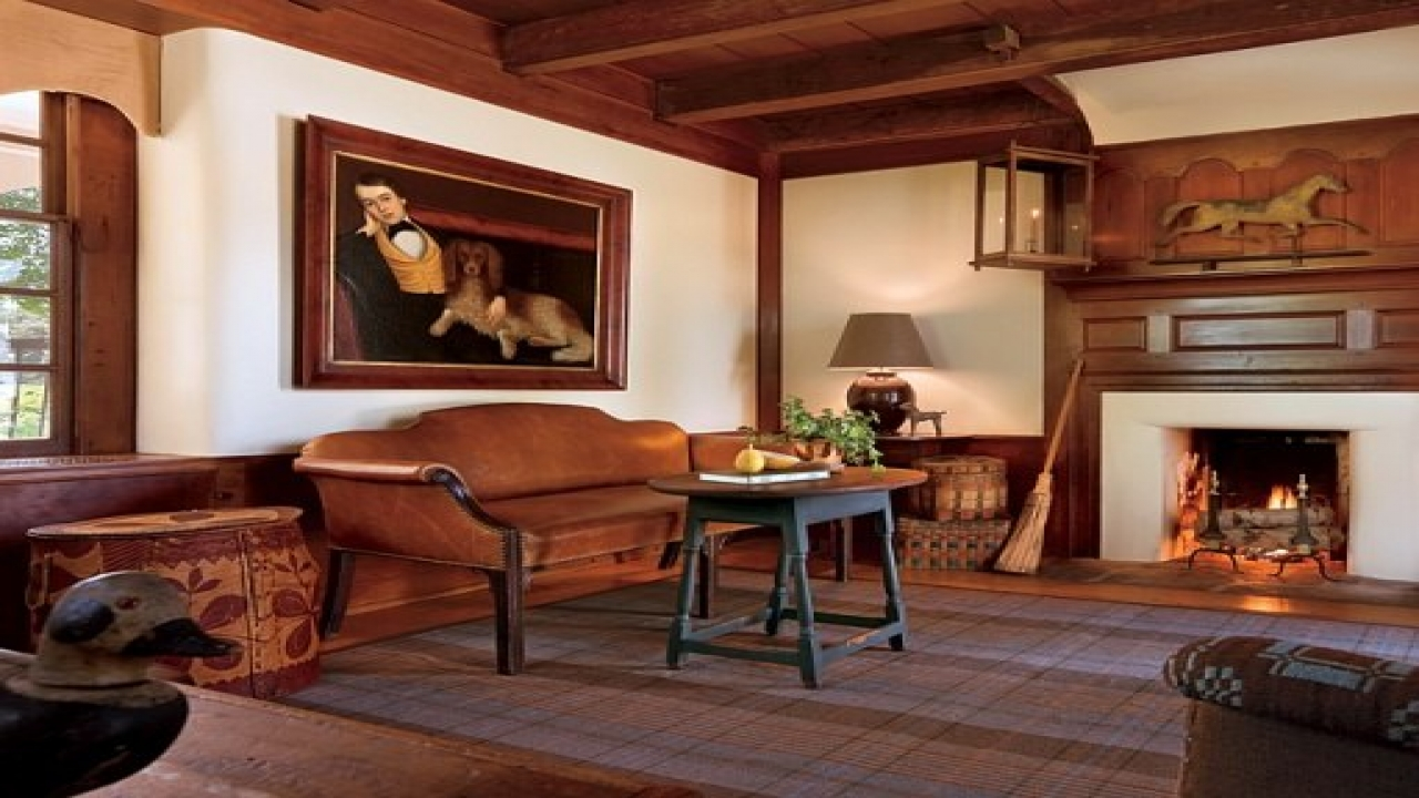 Early American Living Room Decor Colonial Living Room