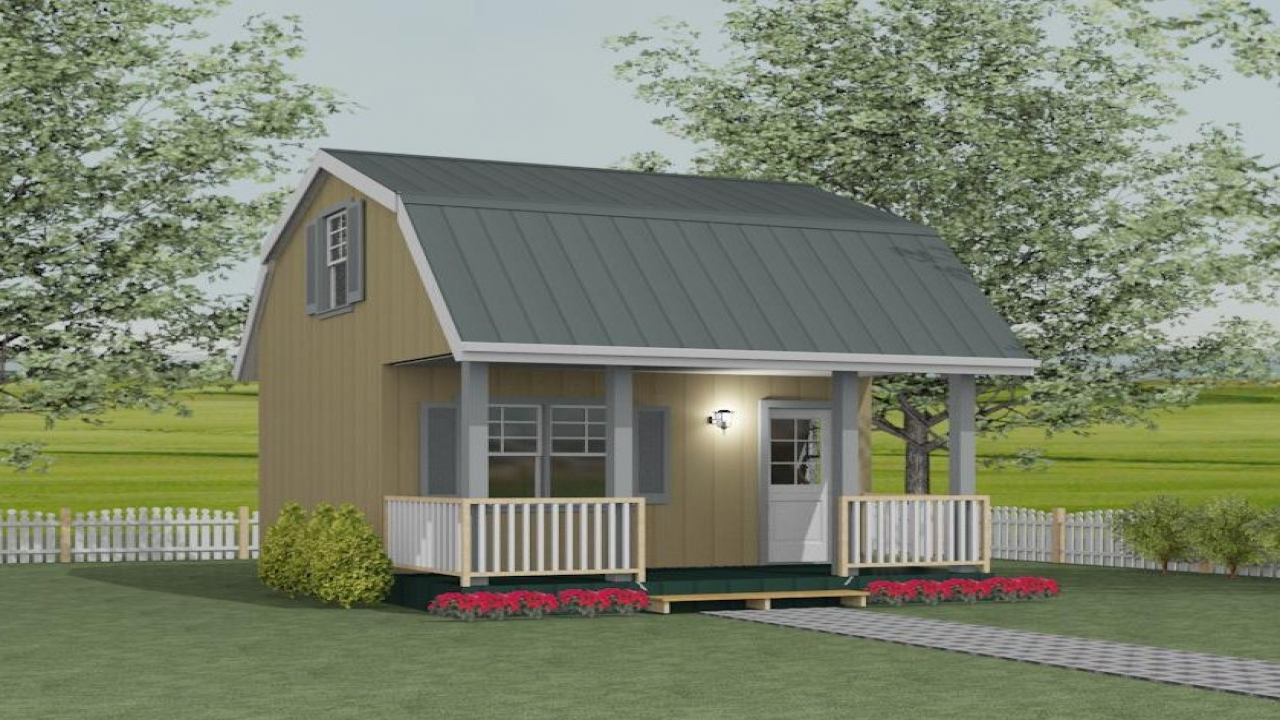 Loft Barn Shed Plans Storage Barn Plans with Loft bunkie