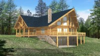 Log Cabin House Plans with Basement Simple Log Cabin House ...