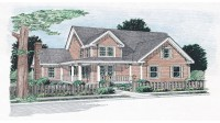 One Story White Farmhouse Simple One Story Farmhouse Plans