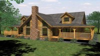 Log Cabin House Plans with Open Floor Plan Log Cabin House ...