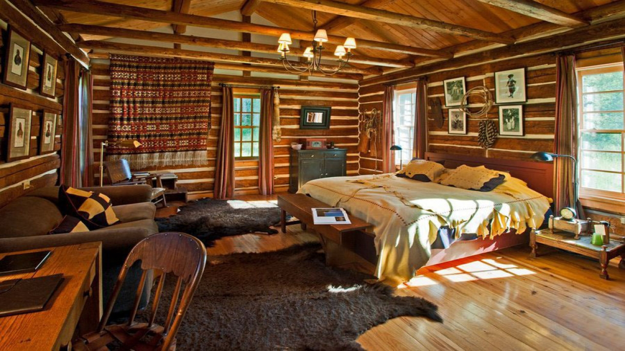 Rustic Log Cabin Interiors Rustic Cabin Interior Decorating one bedroom log cabin  Treesranchcom