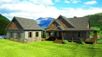 Wrap around Porch House Plans with Basement Farmhouse with ...