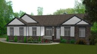 Ranch Style Bungalow House Plan Ranch Homes with Dormers ...