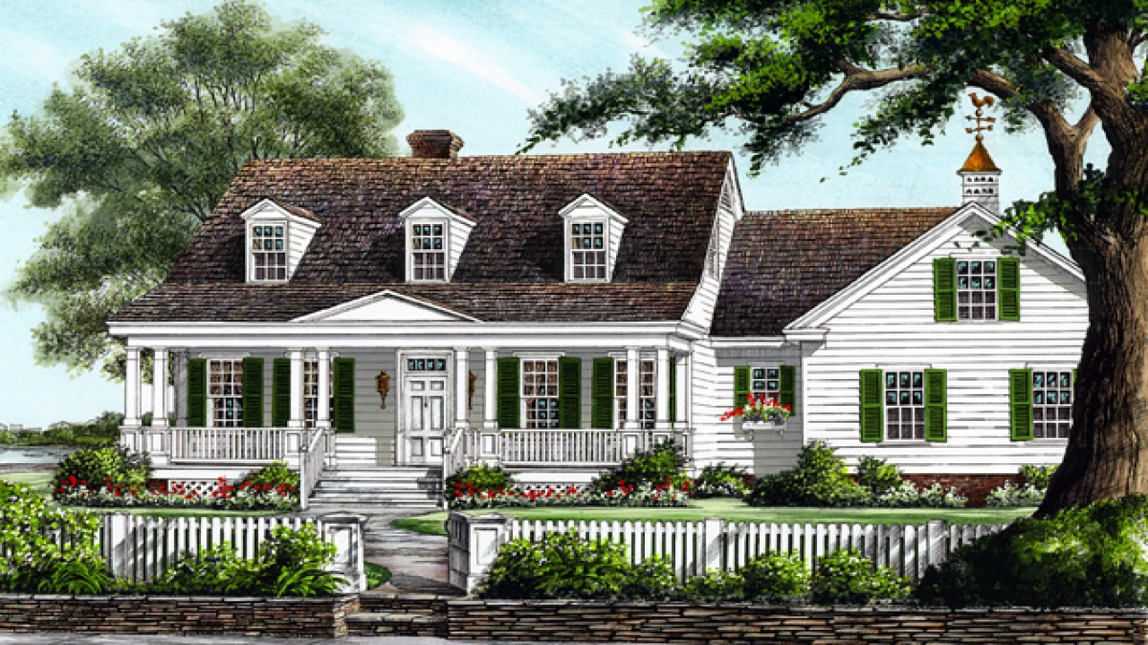 Large Colonial House Plans Southern Colonial House Plans Country Cottage familyhomeplans com