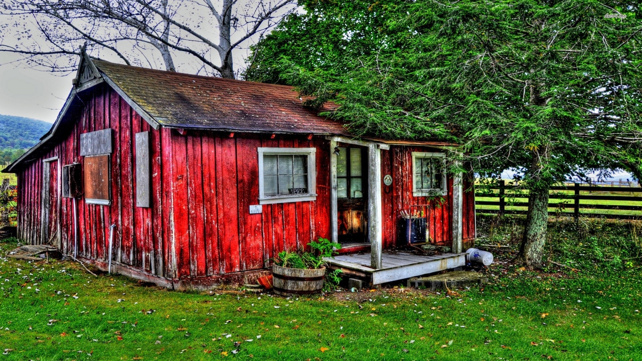 Red Barn House Red Cottage House Red Cottage
