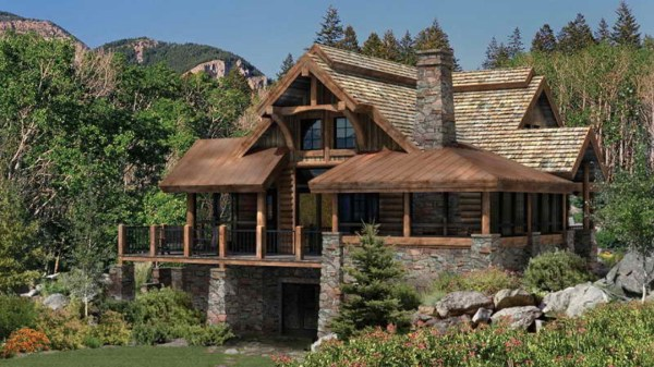 Rustic Log Cabin Floor Plans Log Cabin Floor Plans and