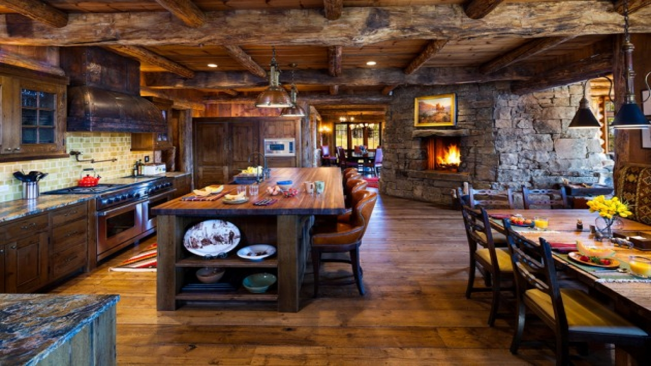Rustic Log Cabin Kitchen Designs Log Cabin Kitchens With