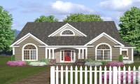 One Story House Plans with Front Porches One Story House ...
