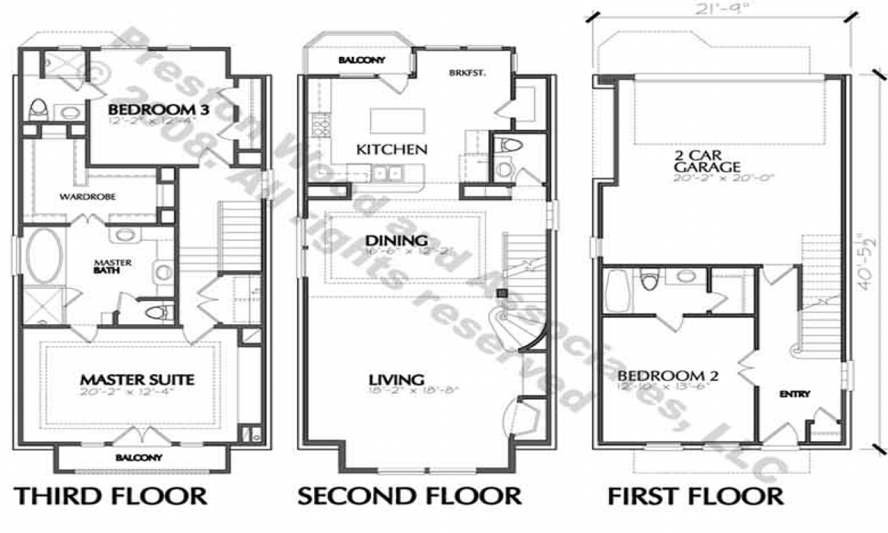 House Floor Plan Blueprint Two-Story House Floor Plans