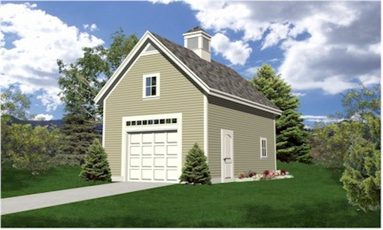 One Car Garage With Apartment Plans One Car Garage With