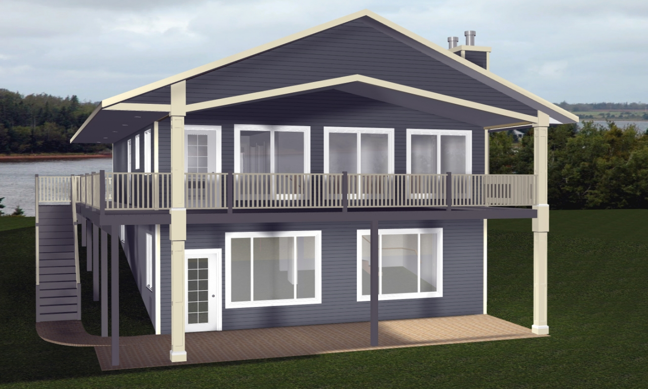 Cabin House Plans with Walkout Basement Country House