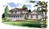 Traditional Country Farmhouse House Plans Traditional Farm ...