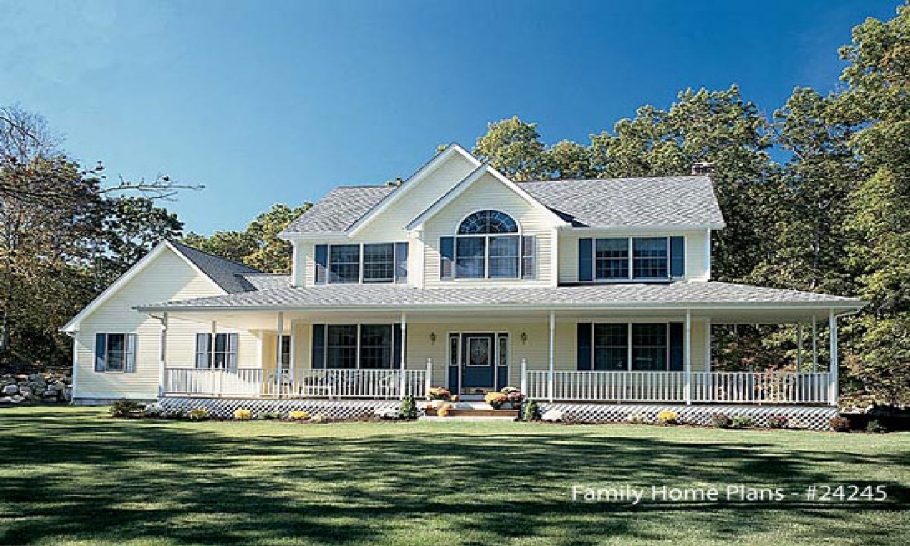Country House Plans with Wrap around Porches Southern