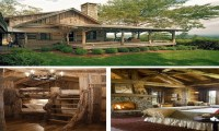 Rustic Cabin Living Room Ideas Rustic Log Cabin Living ...