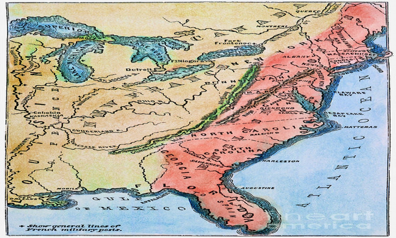 Maps Colonial America Colonies Map of Colonial America