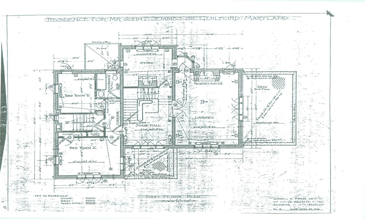 Baltimore Row House Floor Plan Historic House Floor Plans