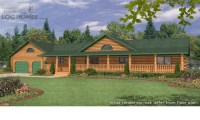 Ranch Style Log Home Plans Ranch Style Log Homes with Wrap ...