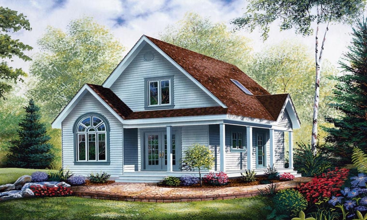 Cottage Style House Plans with Porches Economical Small