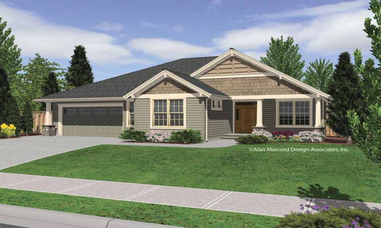 Single Story Craftsman Home Plans Craftsman House Plans