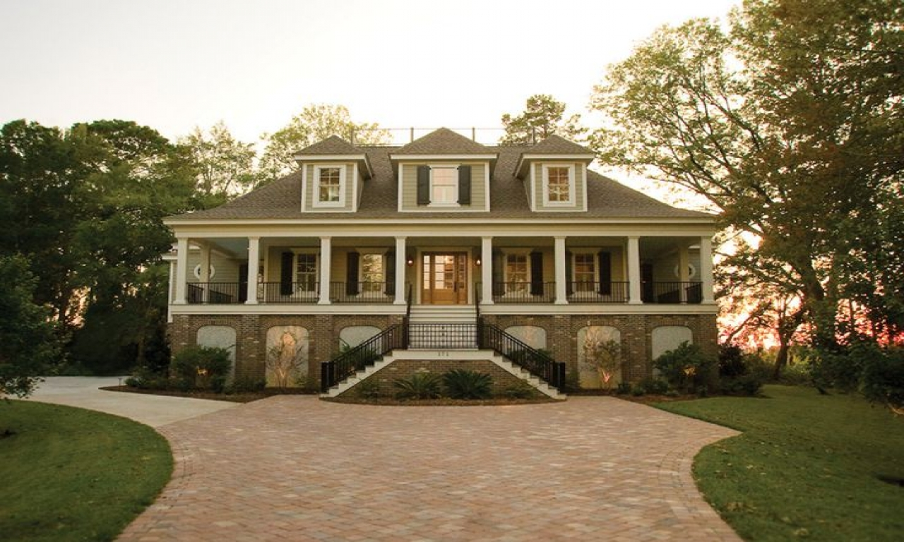 Southern Beach House Plans Raised Low Country House Plans