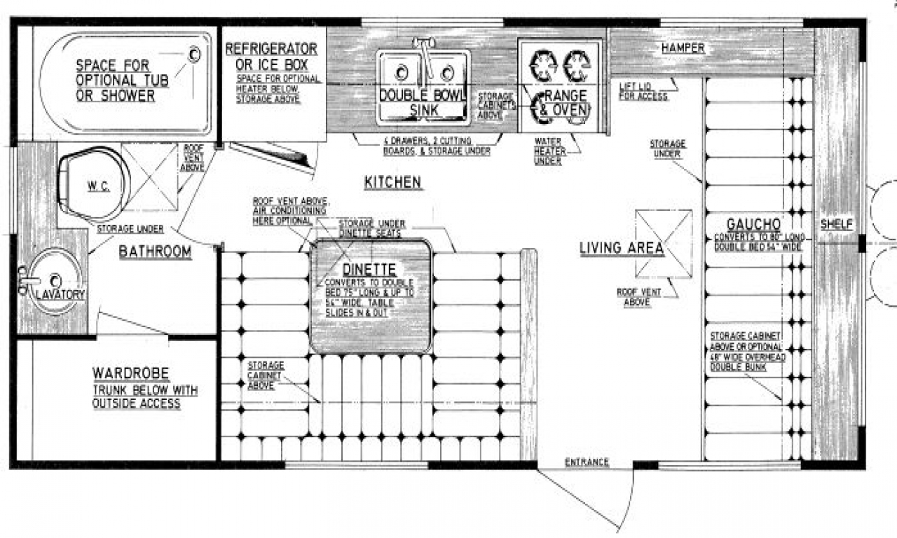 Camper Travel Trailer Floor Plans Small Travel Trailer
