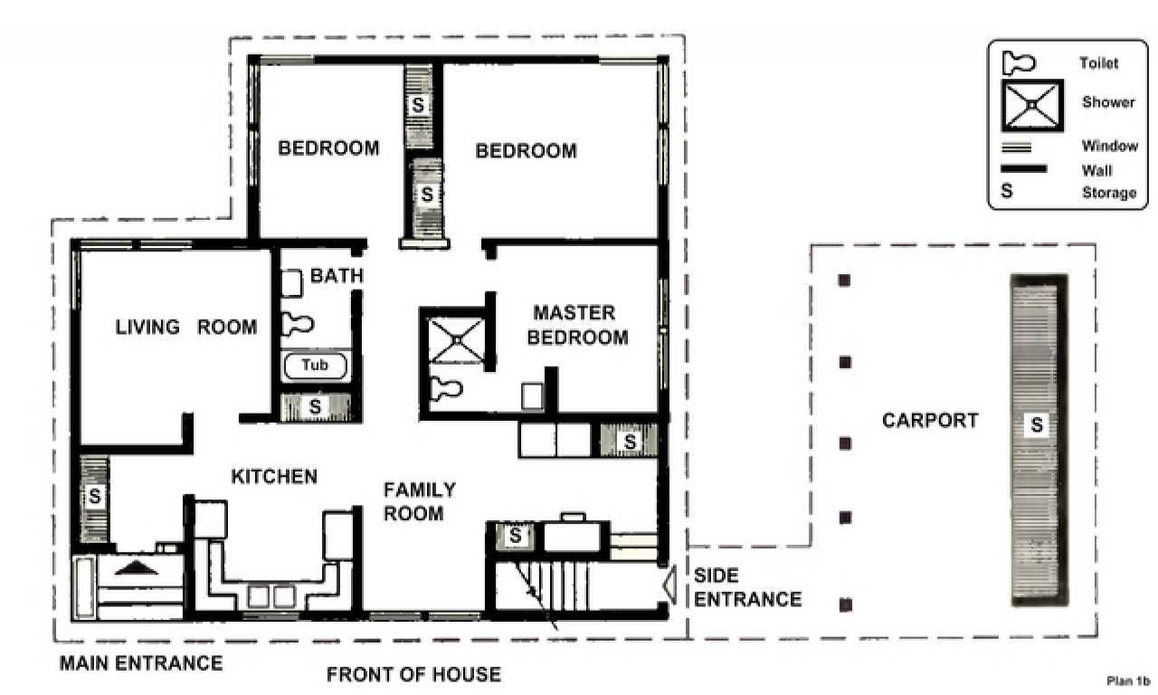 Simple Two-Story House Two Bedrooms Small Two Bedroom
