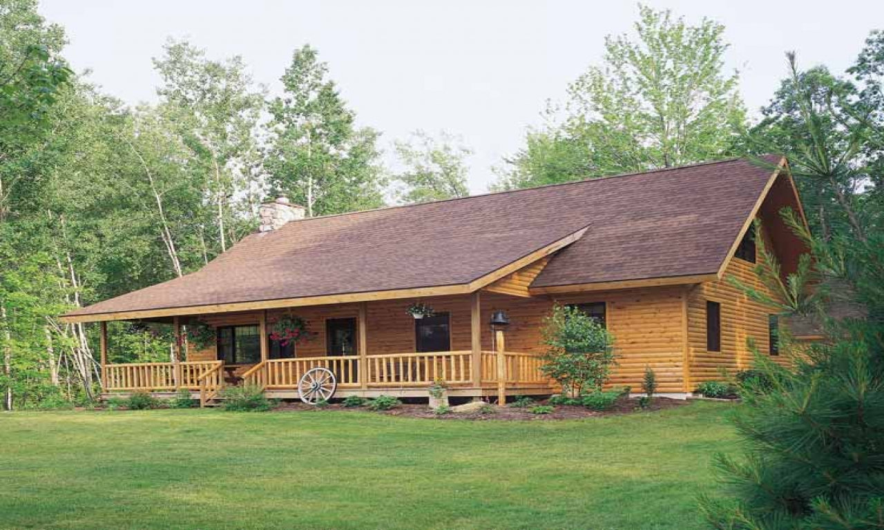 Log Style House Plans Ranch Log Cabin Plans, cabin style